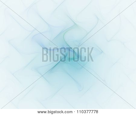 Abstract Blue Background With Turquoise Or Cyan Pleated Flower Texture