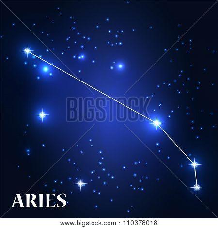 Symbol: Aries Zodiac Sign. Vector Illustration.