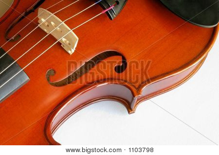Musical Instruments: Violin Closeup Showing The Bridge (11)
