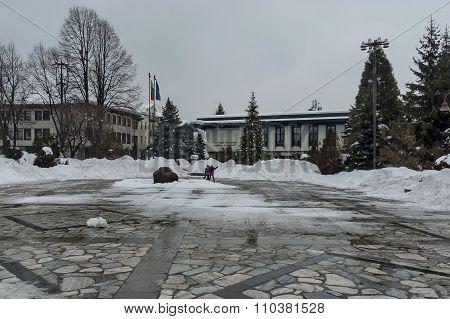 Central square in Bansko town