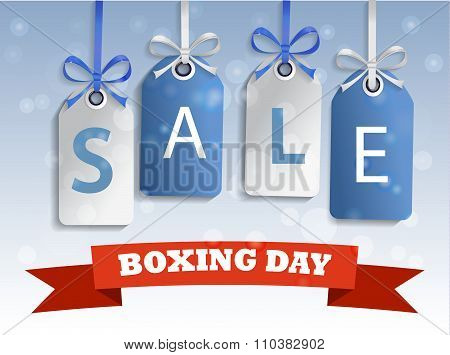 Boxing day sale tag hangig