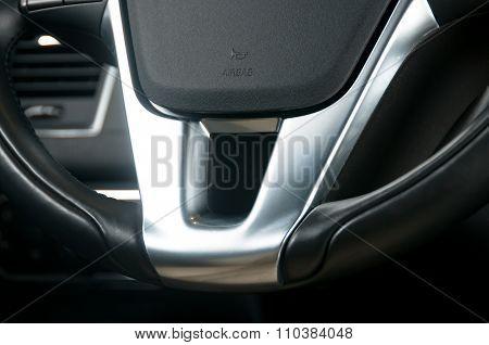 Part of steering wheel