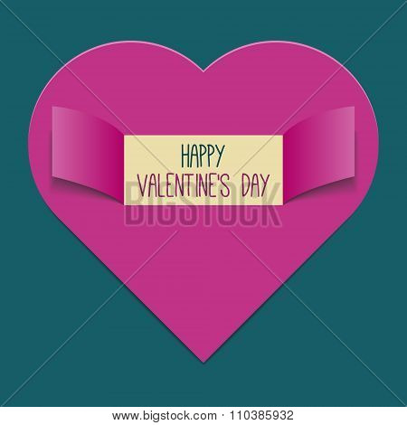 Valentine's Day background or greeting card