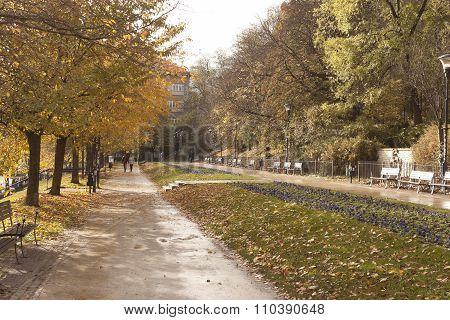 Autumn Square In Prague