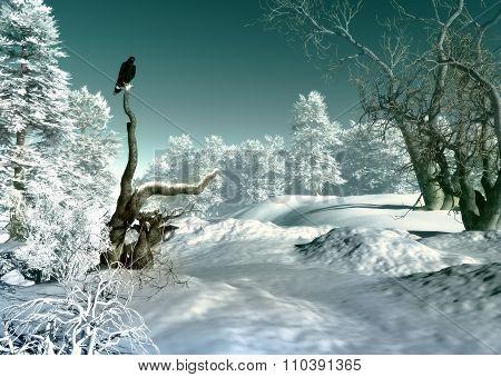 Winter Wonderland Scene, 3D Cg