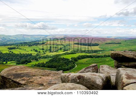 Picturesque View On The Hills From Stanage Edge, Hathersage