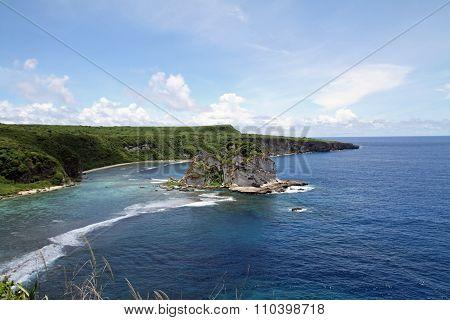Bird island in Saipan North Mariana Islands