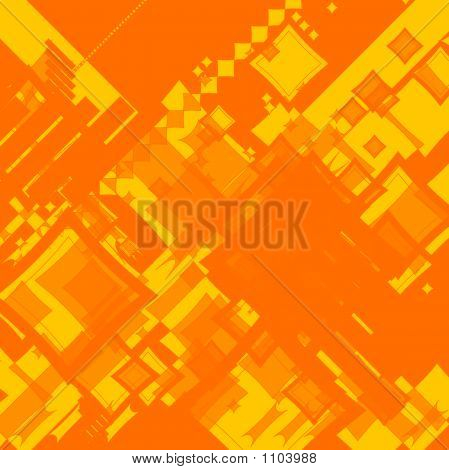 Ebb Flow Orange Square Random