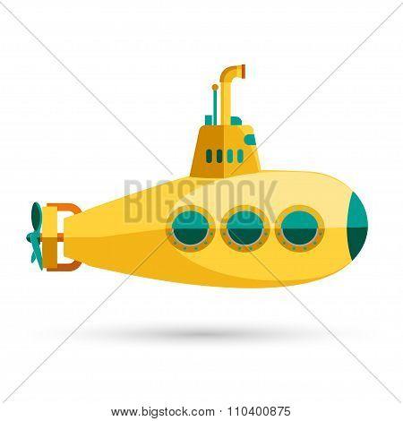 Yellow Submarine with periscope