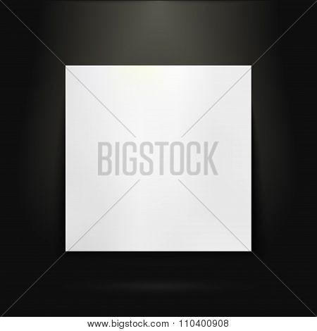 Blank presentation board in showroom