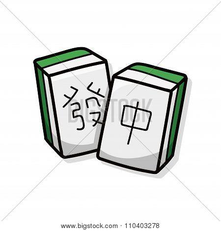 Chinese Mahjong Doodle