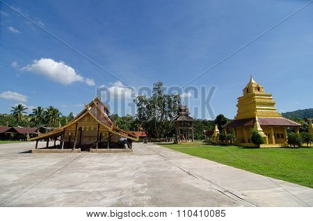 Old Church At Wat Sri Pho Chai Sang Pha Temple In Loei Province, Thailand