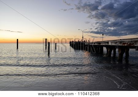 Coogee Beach Jetty at Sunset: Western Australia