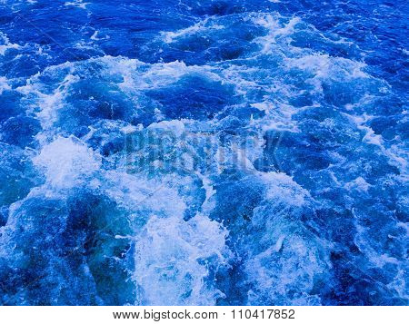 Blue Water Boils And Flows