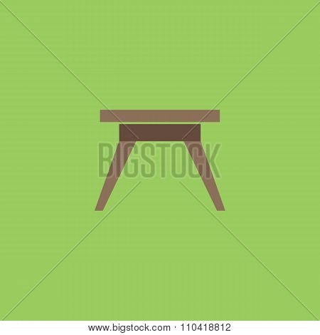 Small table icon, sign and button