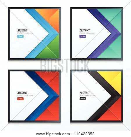 Background Overlap Dimension Modern Set 4 Style Color