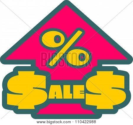 Sales grow up sticker