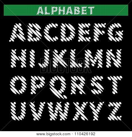 Hatched Alphabet