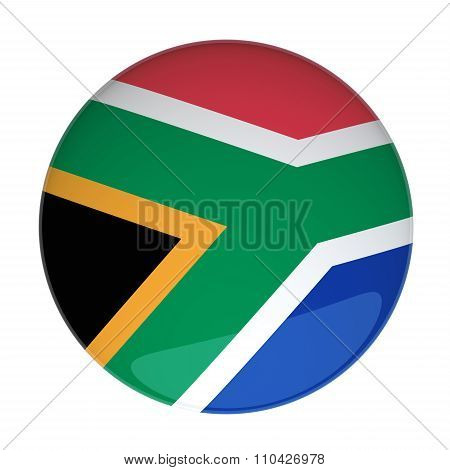 3D Rendering Of A Badge With The South Africa Flag