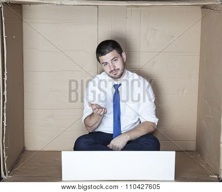 Unemployed Businessman Begging