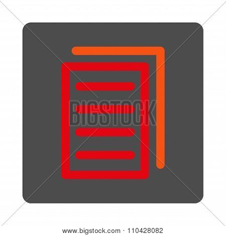 Copy Document Rounded Square Button