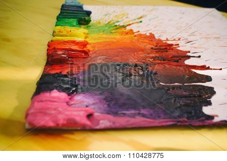Melted Colorful Crayons