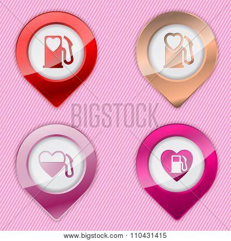 Heart Fuel Tank Pump Symbols