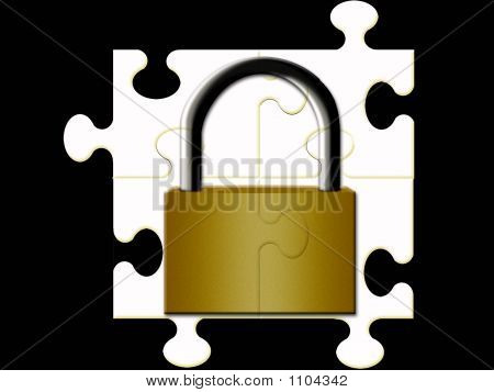 Puzzle Making A Padlock