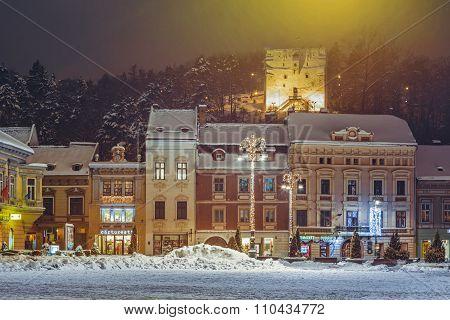 Winter Night Cityscape