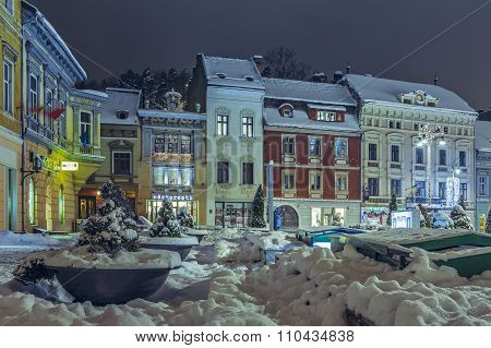 Winter Nightfall City View