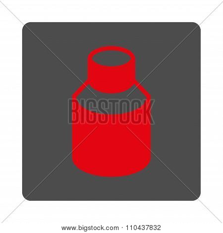 Bottle Rounded Square Button