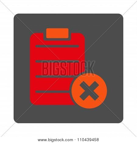 Reject Sheet Rounded Square Button