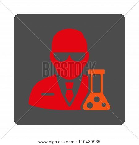 Scientist Rounded Square Button