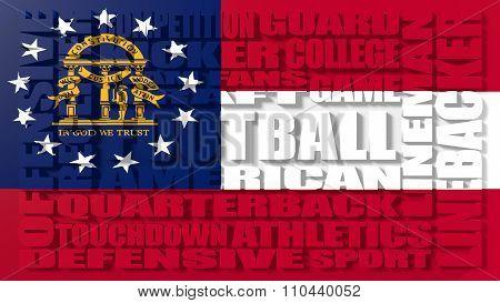 American football word cloud concept