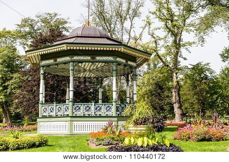Ornate Gazebo In Public Garden