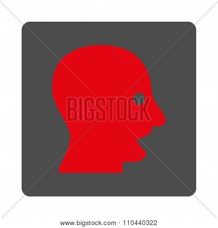 Shouting Head Rounded Square Button