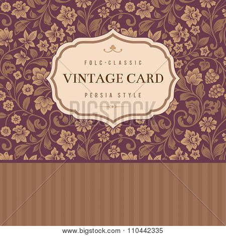 Classical vector vintage card.