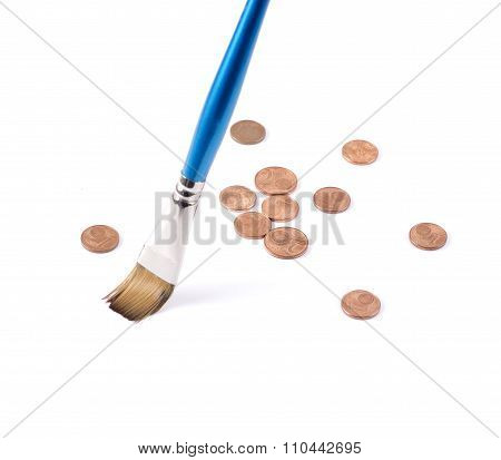 Saving money for you. Sweeping coins