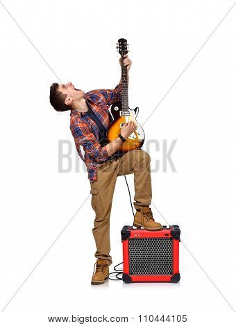 Expressive Rocker Man