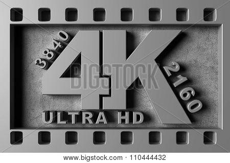 Ultra Hd 4K Symbol
