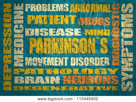 parkinsons syndrome relative words list