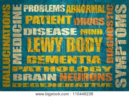 Lewy body dementia relative words list