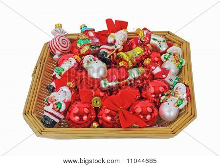 Basket Small Christmas Ornaments