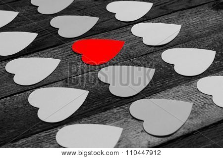 Stickers for messages in the shape of a heart