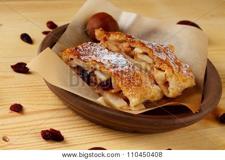 Couple Of Apple Strudel Portions
