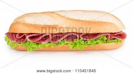 salami and lettuce sandwich