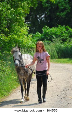 Girl Walk Pony