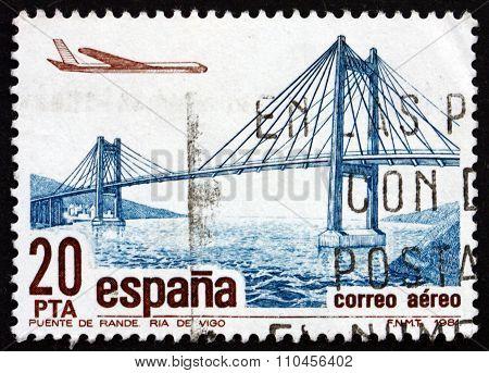 Postage Stamp Spain 1981 Rande River Bridge, Pontevedra