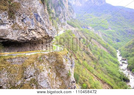 The Road To Rock In Cherek Gorge