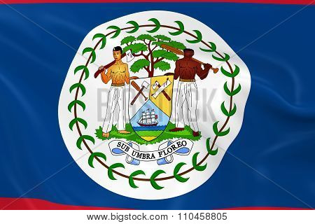 Waving Flag Of Belize - 3D Render Of The Belizean Flag With Silky Texture